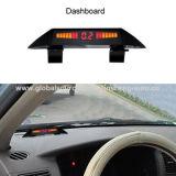 Sensores de aparcamiento para vehículos con pantalla de tres modos en un visualizador