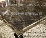 Insieme perfetto moderno della casa della mobilia della moquette del reticolo di vista dell'acciaio inossidabile di disegno d'argento superiore di marmo della Tabella pranzante