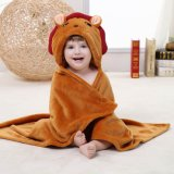 Traje unisex Swaddling, pato de la albornoz del capote de Hoodie de los animales de la franela de la manta del bebé