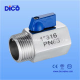 여성 또는 Male Mini Ball Valve