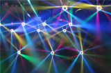당 디스코 단계 빛 7LEDs 10W RGBW 4in1 LED 광속 이동하는 맨 위 빛