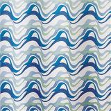 Cortina de chuveiro de tecido sem espessura com tecido impresso / jacquard