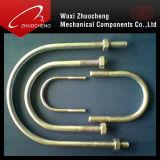 Boulon en U en acier d'acier inoxydable de la bonne qualité DIN 3570 avec 2 écrous