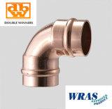 Rohrleitung-Befestigungen 90 Grad-Kupfer-Lötmittel-Ring-Krümmer 15mm