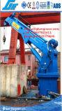 Grue marine de bateau de boum télescopique hydraulique