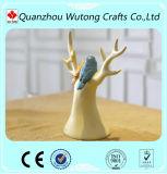 Gifts de Madame Tree Design de résine avec la décoration de pièce de support de bijou d'oiseau