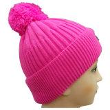 Bonnet tricoté avec POM POM au Top