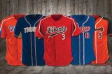 Sublimation Blank Custom Baseball Jerseys Bottons Shirt