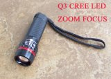 """Lampe-torche rouge de l'anneau LED du signal «O """" avec la fonction de bourdonnement"""