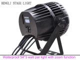 Il watt esterno RGBW di PARITÀ 54*3 del LED impermeabilizza l'indicatore luminoso con la funzione dello zoom del fuoco