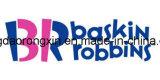 Un documento rivestito della tazza del gelato di Baskin Robbins del PE laterale