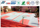 Crystal Rubber Sports Court Flooring com camada de superfície transparente