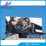 Bandera superior negra de la flexión del PVC Frontlit para hacer publicidad
