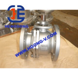 Robinet à tournant sphérique pneumatique de bride de l'acier inoxydable 2piece DIN