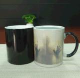 Tazza di caffè cambiante di tè di colore su ordinazione di ceramica della tazza con magia