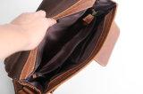 Retro Brown PU Leather Shoulder Long Strip Bag para homem