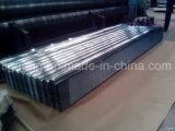 Placa de acero colorida acanalada/trapezoidal/esmaltada del bajo costo de PPGI/PPGL de material para techos para Tanzania