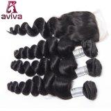 O dobro brasileiro do Weave do cabelo de Remy do Virgin afoga o Weave Bouncy da onda do cabelo humano