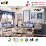 Sofà del cuoio genuino del salone della mobilia antica (HC808)