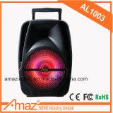 Verkaufsschlager 10 Zoll-Karaoke-Laufkatze-Lautsprecher mit Mikrofon