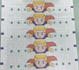 Nonwoven de face estampé coloré de la bande pp Spunbond de couche-culotte de bébé