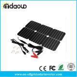Bewegliche autobatterie-Versorger-Aufladeeinheit des Sonnenkollektor-18V 18W 12V Solarfür Automobil-Motorrad-Auto-Boots-Traktor