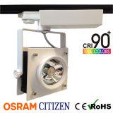 35W LEIDENE van de MAÏSKOLF van de Burger van CRI95 Tracklight met Vierkante LEIDENE 120lm/W Vlek