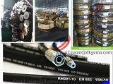 Boyau à haute pression du boyau SAE 100 R1at R2at En853 1sn de boyau en caoutchouc industriel hydraulique de boyau