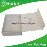 Petite boîte-cadeau de empaquetage estampée noire de carton de papier rigide d'impression de logo fait sur commande en gros