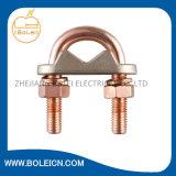Kupferne Verbinder-Bodenrod-Schellen, die u-Schrauben-Schelle erden