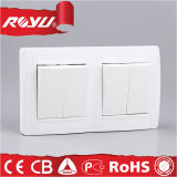 유럽 세륨 Approval 2gang Switch Socket (N-L2K)