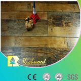 Revestimento laminado V-Grooved raspado mão do anúncio publicitário 12.3mm HDF AC4