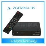 Bcm73625 High CPU Zgemma H5 Receptor de Satélite Dual Core Linux OS E2 Hybrid DVB-S2 + T2 / C Twin Tuners