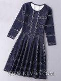 Платье коктеила партии втулки шерстей женщин ультрамодный связанное платьем длиннее