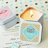 Envases perfumados del estaño de la vela del mini metal cuadrado