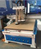 3개의 자동 변경 스핀들 목제 CNC 조각 기계