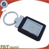 Trousseau de clés fait sur commande de cuir véritable d'hôtel avec le nombre différent (FTKC1758A)