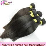 Produto de cabelo humano reto do Virgin da cor preta natural