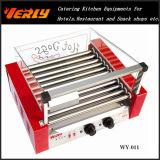 형식 Durable Sausage Machine, Curve Glass Cover 의 세륨 Approved (WY-011C)를 가진 11 Rollers Electric Hot Dog Grill