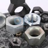 DIN555 Hex Nuts com Carbon Steel (Plain, Black, Zinc Planted)