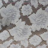 Tela de nylon blanca del cordón del ganchillo para la alineada de las mujeres