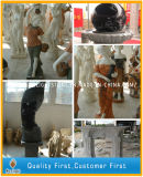 백색 또는 베이지색 또는 금 대리석 상 또는 조각품 의 돌에게 새기기