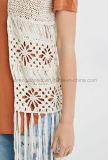 Rivestimento Handmade guarnito delle donne del Crochet