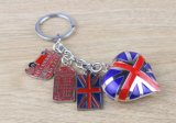 Inglaterra Style Fashionable Metal Key Chain para Tourism Crafts