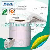 Papier thermique en carton BOPP en blanc personnalisé pour le codeur de barre