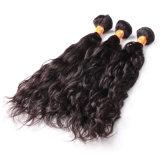 Extensions réelles péruviennes non transformées de cheveu de cheveu ondulé