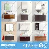 Ванная комната MDF древесины переключателя касания СИД самомоднейшая с мебелью хранения (BF144D)