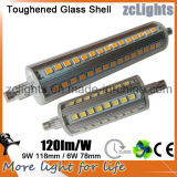 100-240V 90SMD 2835 LEDs 360degree 9W Aluminum High Lumen R7s LED 118mm