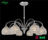 Iluminação de cristal do pendente do candelabro das lâmpadas novas do projeto 3 para o hotel Decotive