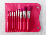 9 partes da beleza utilizam ferramentas escovas vermelhas da composição de Rosa do logotipo de Costom